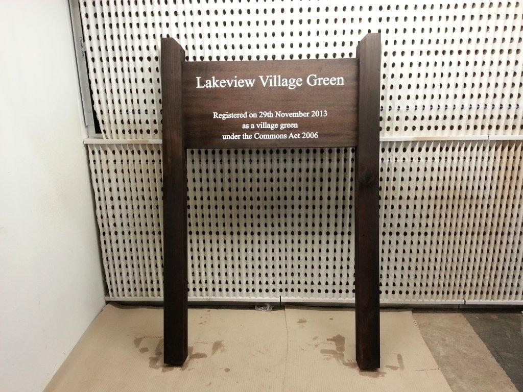 Lakeview Village Green Sign