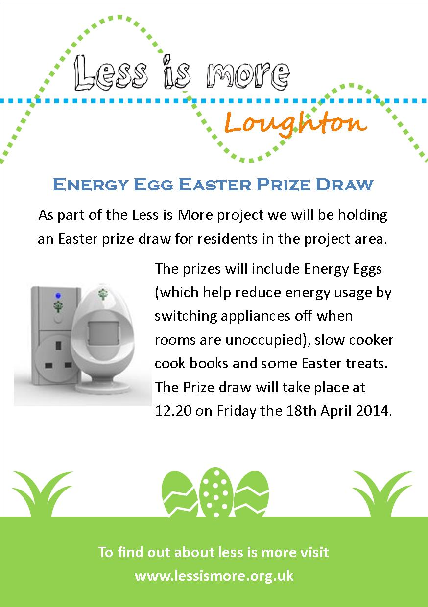 Loughton Easter Prize Draw Front