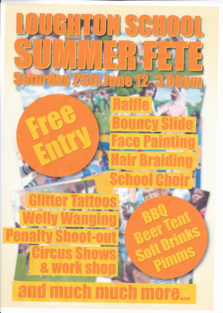 Loughton School Summer Fete Poster