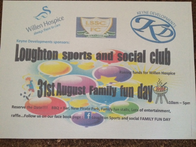 Loughton Sports & Social Club Funday 31.08.14 Poster