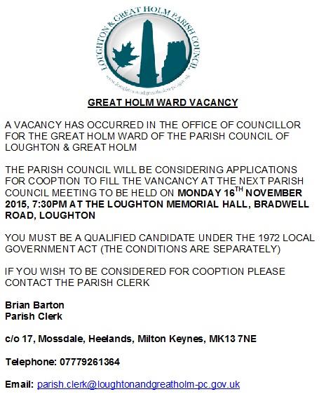 Ward Vacancy Poster