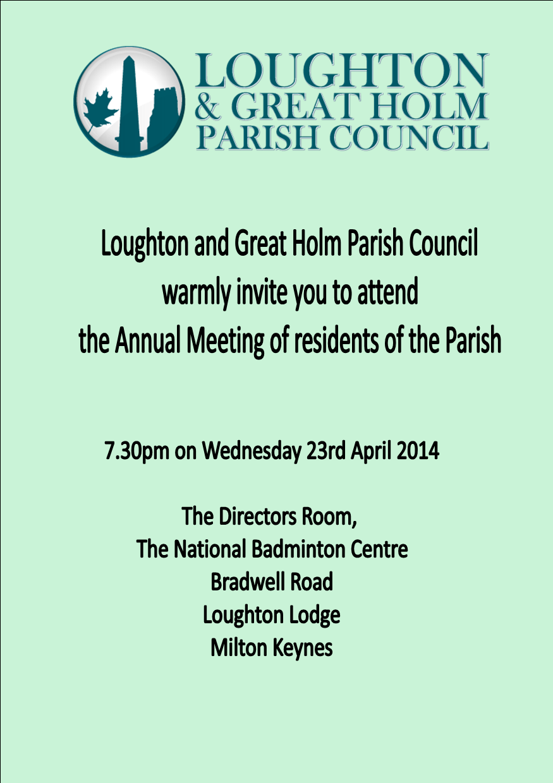 annual parish meeting leaflet